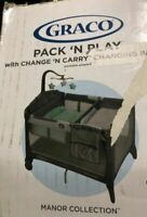 New Opened Graco Pack 'n Play Change 'n Carry Playard with Bassinet, Manor