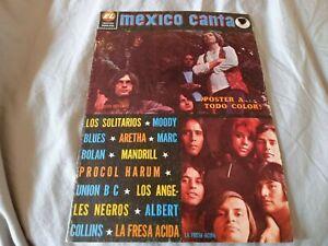 Mexico Canta Magazine #395 (1972) Marc Bolan Yes Moody Blues Aretha Franklin