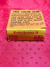 Vintage Kodachrome II Double 8mm Roll 25ft Daylight Film. Aug 1964 Never Opened!