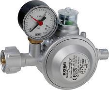 ROWI Gas Druckregler HDG 1 D Druckminderer Druck Regler für Heizöfen Kamin Ofen