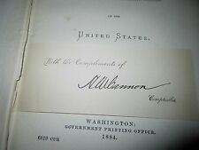 Annual Report of the Comptroller of the Currency of the United States 1884