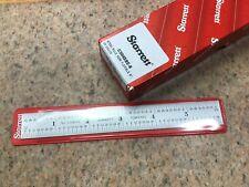 New Starrett 6� Rule / Scale Hand Tool - No. C304Sre - 4 Grad Machinist Woodwork