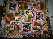 Nice Bold Modified Oriental Quilt Top by Red Rooster - Enlarged Gion Pattern Top