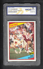 Dan Marino 1984 Topps In Action Card #124 Dolphins WCG Graded 10