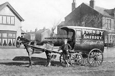 rp14653 - Formby Laundry , Liverpool Road , Delivery Horse & Cart - photo 6x4
