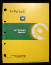 Original John Deere 375 Skid Steer Loader Tractor Operators Manual Very Nice