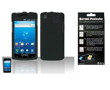 Screen Protector + Black Hard Cover Case for Samsung Captivate Galaxy S SGH-i897