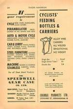 1953 Speedwell Gear Case Birmingham Coloral Products Alloy Wire Ad