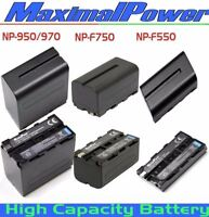 MaximalPower Battery For Sony NP-F550 NP-F750 NP-F950 F970 EVO MVC CyberShot Cam