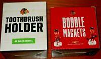 Chicago Blackhawks SGA Toothbrush Holder and Bobble Magnets (Hartman and Schmalt
