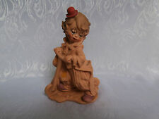 GIUSEPPE ARMANI BOY CLOWN WITH SCOOTER FIGURINE PART PAINTED 1987 ITALY RARE