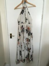 White Floral   High Low  Summer Holiday Dress  - Back Detail   Size 8   NWT