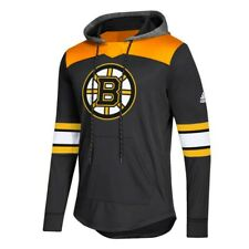 Boston Bruins NHL Adidas Men's Black Authentic Platinum Pullover Hoodie