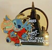 2013 Mickey's Not So Scary Halloween Party Stitch w Jack O'Lantern Pin WDW