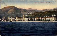 Gardone Riviera Lago di Garda Italien 926 frankierte Marken Blick über den See