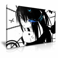 BLACK ROCK SHOOTER Manga Canvas Framed Print 30X20 INCH / 76x50CM SPECIAL OFFER