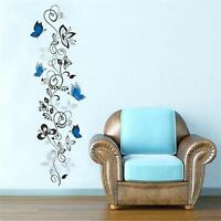 Beautiful Wall Stickers Home Decoration Removable Flower Rattan Wall Sticker HS