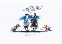 Reiner Schwalme, Deutscher Karikaturenpreis 2010 original signiert/signed !!!