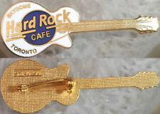"Hard Rock Cafe SKYDOME TORONTO 1990 White LES PAUL GUITAR PIN ""SHILO '90"" #23788"