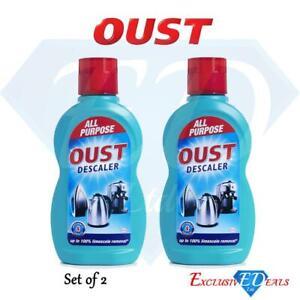 2 x Oust All Purpose Descaler fast Action Kettle Iron Appliance 500ml Bottles
