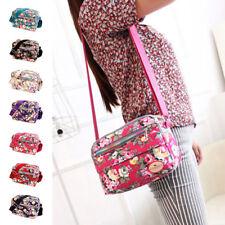 Women leisure Messenger Bags Print Floral Cross Body Shoulder Canvas Hobo Bag US