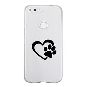 Heart love Dogs Paw Sticker Die Cut Decal for mobile cell phone Smartphone Pet