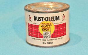VINTAGE 1955 RUST-OLEUM H-5 BLACK PAINT CAN - 1/4 PINT - COLLECTORS ITEM