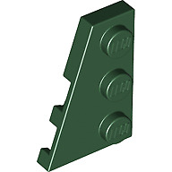 Pack of 2 Wedge Plate 3x2 Left 43723 DARK B GREY LEGO Parts NEW