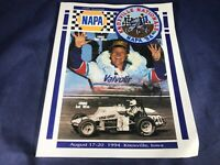 W1-34 SPRINT CAR KNOXVILLE NATIONALS NAPA 94 PROGRAM & PATCH - AUGUST 17-20 1994