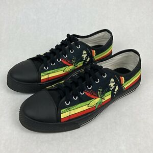 Men's Bob Marley One Love Casual Lace Up Shoes, Black, Multicolor, Size 11