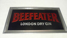 VINTAGE BEEFEATER LONDON DRY GIN WHISKEY BAR MIRROR BEER SIGN