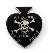 Wholesale Lot of 12 US Army Airborne Death From Above Spade Lapel Hat Pin PPM814
