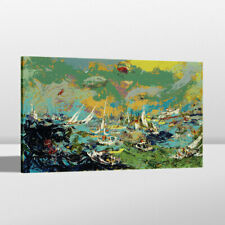 Painting Home Wall Decor LeRoy Neiman Fleet America's Cup Canvas Art Print 24x36
