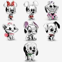 Disney S925 Charms.  Mickey Minnie 101 Marie Cheshire Pluto Stitch