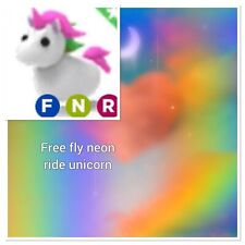 FREE Roblox Adopt Me FNR UNICORN Fly Neon Ride NFR W/ Purchase Of Photo