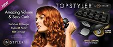NEW! TopStyler by InStyler Heated Ceramic Styling Shells Hair Curlers with Case
