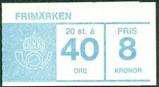 SWEDEN H165F2 (Scott 669a) 40ore Gustaf VI, new cover type, VF, Facit $24.00