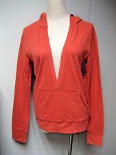 NEW Maurices Womans Cotton Hoodie Sweatshirt Size M, Red Orange
