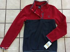 Spyder Men's Fleece Pullover Size Small Red New