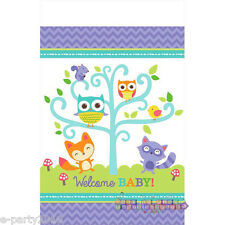 BABY SHOWER Woodland Welcome PLASTIC TABLE COVER ~ Party Supplies Decorations