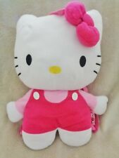 """Hello Kitty Backpack Purse 2011 Sanrio Stuffed Plush 15"""" White Cat Pink outfit"""