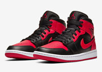 Nike Air Jordan 1 Retro Mid 'Banned' Mens Size 11 Bred 554724-074 Red Black New