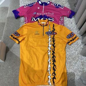 "Mens Cycling Jersey Short Sleeve Bundle 38"" Chest Pink/ Orange Shirts Biking"