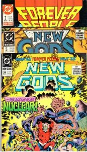 NEW GODS #5  #24  (3rd Series)   FOREVER PEOPLE #2  (2nd Series)    F+ (6.5) Avg