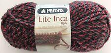 10 x Balls - Patons Lite Inca 8ply - 70% Wool-Alpaca - Red & Black #011 - $35.00