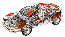 Toyota Celica Turbo T180 Cutout Over 1 Meter Wide 1 Piece XXL Poster Art Print!