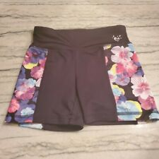 """Girls Justice """"Cheer"""" Floral Bike Compression Shorts Size 8"""