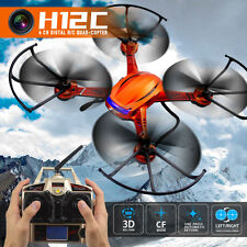 JJRC H12C 2.4G 6-Axis Gyro RC Drone Quadcopter Helicopter Orange + 5MP HD Cam F1