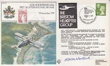 FF9c 60th Anniv UK International Air Mail Signed R H McIntosh WW1 Pilot Veteran