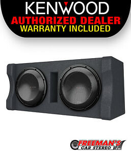 """Kenwood P-XW1221D Dual 12"""" Subwoofer Vented Enclosure, 600W RMS Power"""